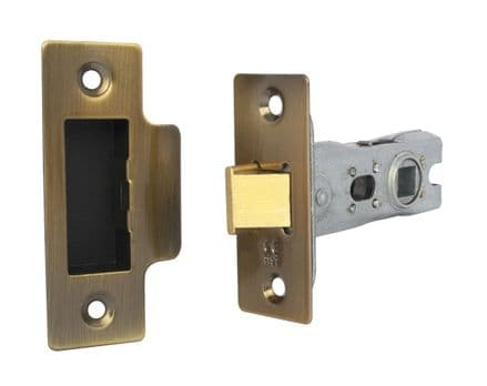 Excel Hardware  2157-ANB Tubular Mortice Latch 76mm  Antique Brass