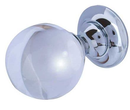 Frelan Hardware JH1150PC Glass Mortice Knob Set Glass/Polished Chrome
