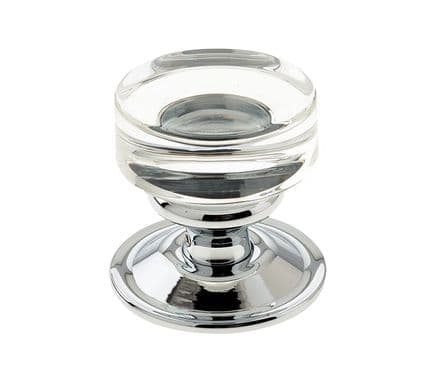 Frelan Hardware JH1171PC Moderno Glass Mortice Knob Set Glass/Polished Chrome
