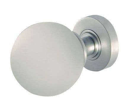 Frelan Hardware JH5204SC Frosted Glass Mortice Knob Set Glass/Satin Chrome