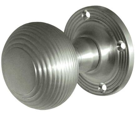 Frelan Hardware JR6MSC Reeded Mortice Knob Set Satin Chrome