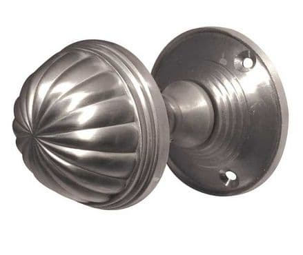 Frelan Hardware JV183MSC Fluted Mortice Knob Set Satin Chrome