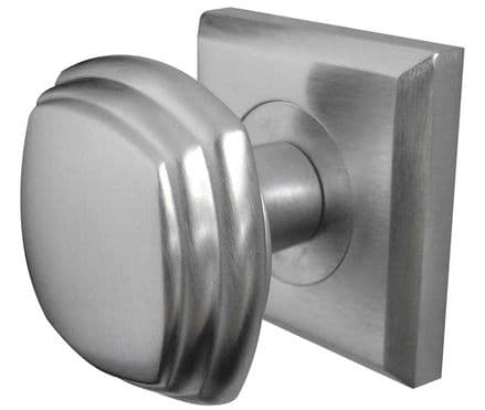 Frelan Hardware JV74SC Square  Mortice Knob On Square Rose Satin Chrome