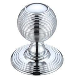 Fulton & Bray FB306CP Ringed Concealed Fix Mortice Knob Polished Chrome
