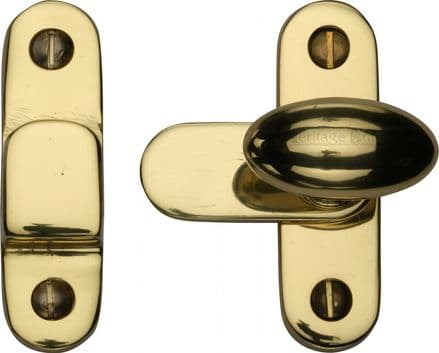 M Marcus Heritage Brass  V1970-PB Cabinet Hook and Plate Polished Brass