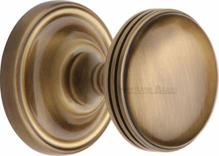 M Marcus Heritage Brass WHI6429-AT Whitehall Mortice Knob On Rose Antique Brass