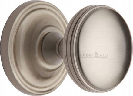 M Marcus Heritage Brass WHI6429-SN Whitehall Mortice Knob On Rose Satin Nickel