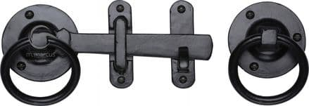M Marcus Tudor Collection FB541 Ring Gate Latch Black Antique