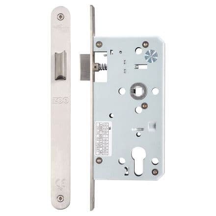 Vier ZDL0055LRSS Din Standard Mortice Latch 55mm Radius Forend Satin Stainless Steel