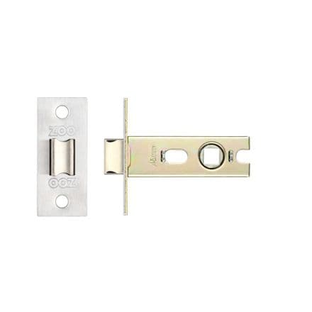 Zoo Hardware PRTL64SS Bolt Through Mortice Latch 64mm Satin Stainless Steel