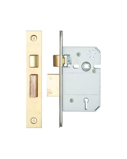 Zoo Hardware ZBSS64PVD British Standard 5 Lever Sashlock 64mm Brass