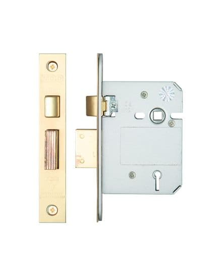 Zoo Hardware ZBSS76PVD British Standard 5 Lever Sashlock 76mm Brass