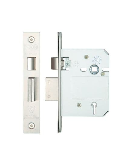 Zoo Hardware ZBSS76SS British Standard 5 Lever Sashlock 76mm Satin Stainless Steel