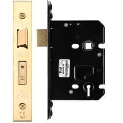 Zoo Hardware ZUKS376PVD 3 Lever Sashlock 76mm Polished Brass