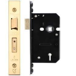 Zoo Hardware ZUKS564PVD 5 Lever Sashlock 64mm Polished Brass