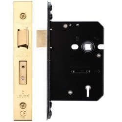 Zoo Hardware ZUKS576PVD 5 Lever Sashlock 76mm Polished Brass
