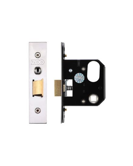 Zoo Hardware ZURNL64SS Replacement Oval Nightlatch 64mm  Satin Stainless Steel