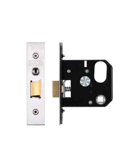 Zoo Hardware ZURNL76SS Replacement Oval Nightlatch 76mm  Satin Stainless Steel