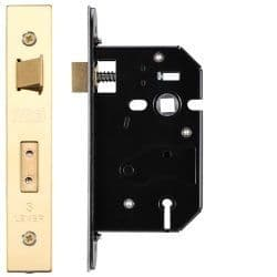 Zoo Hardware ZURS364PVD 3 Lever Replacement Sashlock 64mm Polished Brass