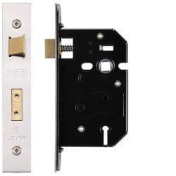 Zoo Hardware ZURS364SS 3 Lever Replacement Sashlock 64mm Satin Stainless Steel