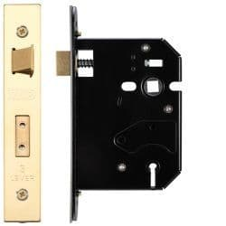Zoo Hardware ZURS376PVD 3 Lever Replacement Sashlock 76mm PVD Brass