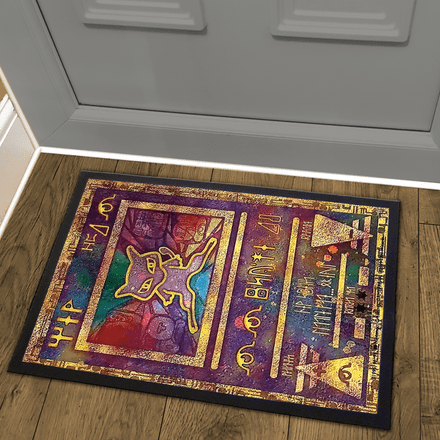 Ancient Mew - The Power of One Promo Pokemon Card Design Welcome Door Mat
