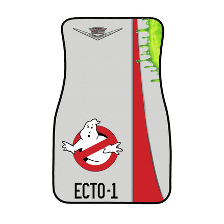 Ghostbusters Cadillac Ecto 1 Design Front Driver or Passenger Floor Car Mat
