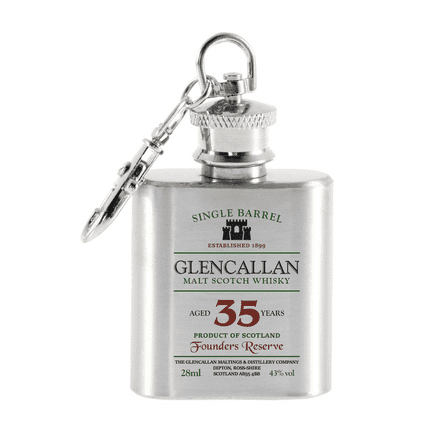 Glencallan Scotch Whisky Design Mini Hip Flask Keyring