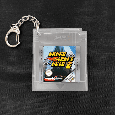 Grand Theft Auto 2 Replica Gameboy Colour Cartridge Keyring