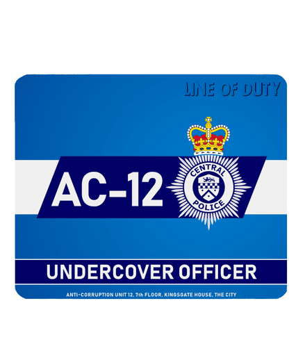 Line of Duty AC-12 Undercover Officer Central Police PC Laptop Computer Mouse Mat