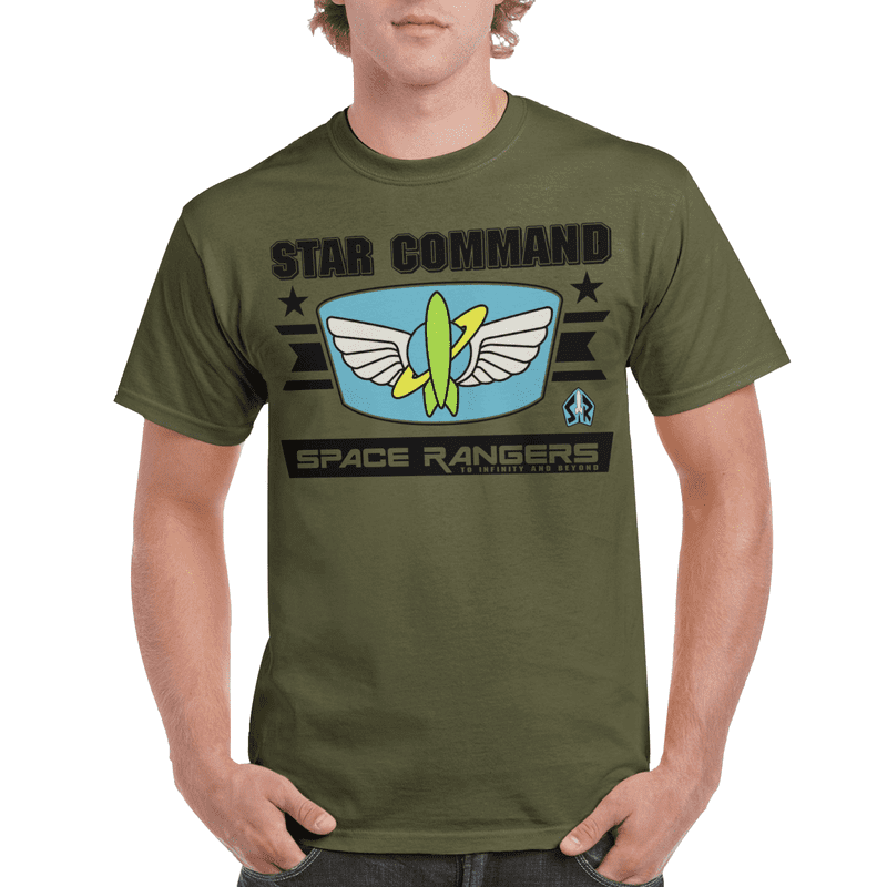 Star Command Space Rangers Buzz Lightyear Toy Story Adult T-shirt