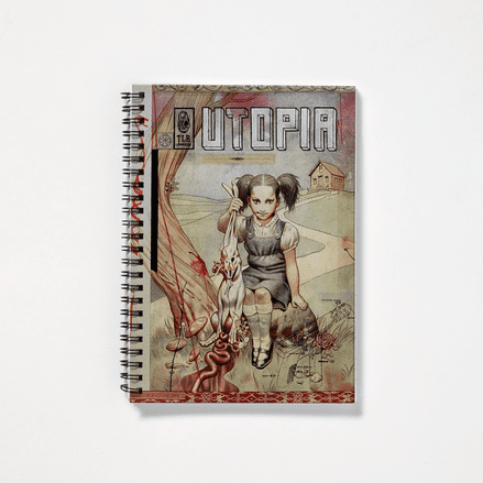 Utopia Comic Book Cover Design Spiral Notebook Inspired by Utopia