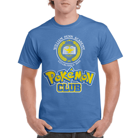William Penn Academy Pokemon Club Cotton T-Shirt based on Schooled & Goldbergs