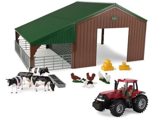 Farm Building and Tractor Play Set