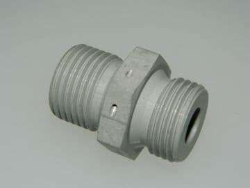 """1/2"""" BSP Double Ended Union Body Aluminium Adaptor 3/8"""" Pipe Part AGS1105-D [L6]"""