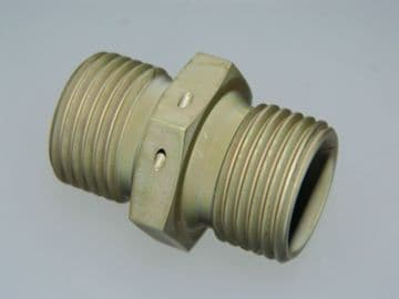 """1/2"""" BSP Double Ended Union Body Mild Steel Cadmium Plated Part AGS949-D [Q16]"""
