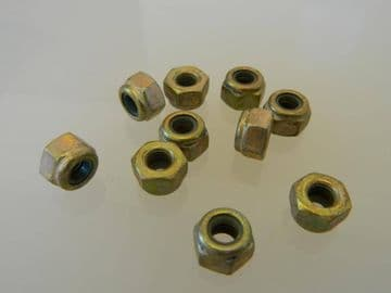 "1/4"" UNF Steel Nyloc Self Locking Nuts [F10]"