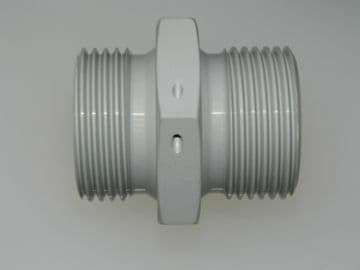 """1"""" BSP Double Ended Union Body Aluminium Adaptor 7/8"""" Pipe Part AGS1105-H [J16]"""