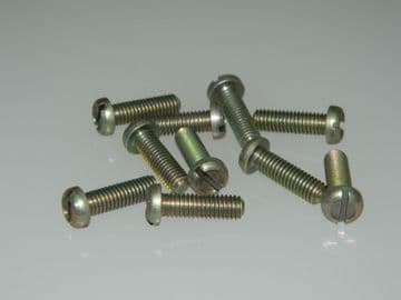 """10 x 10-32"""" UNF Bolts Slotted Pan Head Steel Length 9/16"""", VGS6721-D20 [Q29]"""