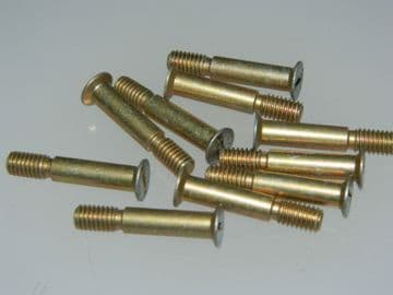 """10 x 10-32 UNF Countersunk Slotted Head Bolts Length: 1"""" DHS965-6.5C [W19]"""