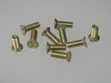 """10 x 10-32 UNF Screw CSK Slotted Head Steel Length 1/2"""" [G5]"""