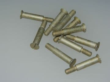 """10 x 10-32"""" UNF Slotted Screw Countersunk Head Length 1 3/16"""" Part 8SS5539 [V5]"""