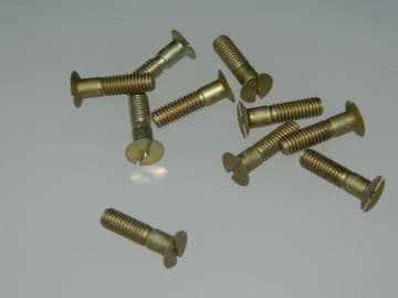 """10 x 10-32"""" UNF Slotted Screw Countersunk Head Length 3/4"""" Part 6SS4353 [H2]"""