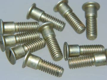 """10 x 10-32 UNF Slotted Screw Flush Reduced Countersunk Head 5/8"""" Long [P14]"""