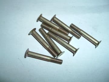"""10 x 2BA Bolt Countersunk Phillips Head Length 1 3/8"""" Part Number AS3297-9C [A2]"""