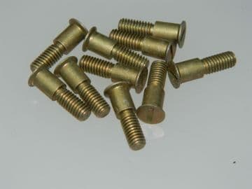 """10 x 2BA Bolts Shouldered CSK Slotted Head Length 11/16"""" SL5089-3CR2 [END3F]"""