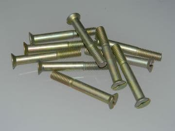 """10 x 2BA Screws Slotted Head Countersunk Length 1 3/8"""" Part AS1242-9C [G11]"""