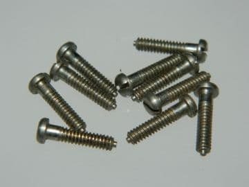 """10 x 4-40 UNC Screws Slotted Pan Head Stainless Steel Length 1/2"""" A117-2A [R2]"""