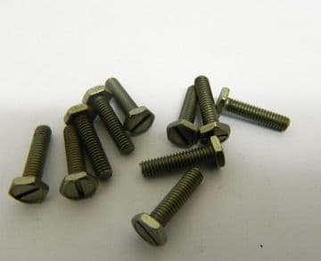 """10 x 4BA Slotted Hex Head Steel Bolts Length 9/16"""" Part 110G-5110763 [K3]"""