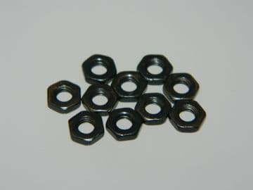 10 x 6BA Nuts Black Anodised Flat Nuts Model Engineering Instrument Nuts [Q2]